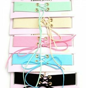 Jewelry - 1 Double knot assorted pastel chokers